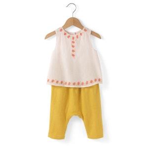 Ensemble 2 pièces blouse + sarouel 0 mois-2 ans R mini