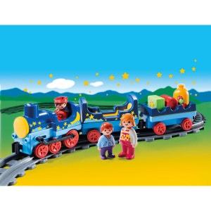 Train étoilé avec passagers et rails multicolore PLAYMOBIL