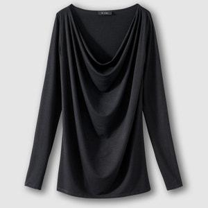Camiseta de manga larga con cuello drapeado R édition