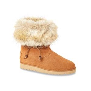 Cheyenne Fur-Lined Leather Ankle Boots LES TROPEZIENNES PAR M.BELARBI