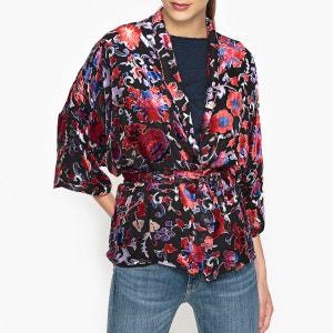 Veste kimono en velours dévoré DULCE BA&SH