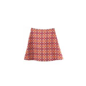Mini jupe vintage à la forme trapèze couleur d'automne 2 poches discrètes zip SUNDAY LIFE