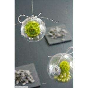 Boule PVC transparente à garnir D 10 cm - boule pvc transparente garnir: D 10 CM ARTIFICIELLES