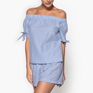 Pijama às riscas finas La Redoute Collections