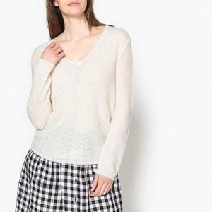 Camisola com decote em V, tricot aos favos, ODE HARRIS WILSON