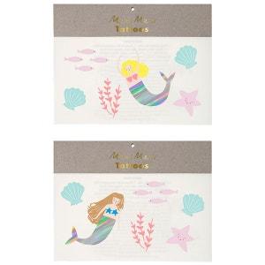 Tatouages éphémères Mermaids MERI MERI