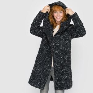 Manteau-mi long à capuche chevrons VILA