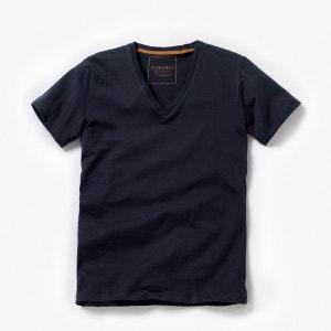 Tee shirt col v en coton La Redoute Collections