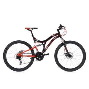 VTT Tout Suspendu 26'' Nice 21 Vitesses noir-rouge KS Cycling KS