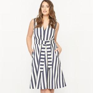 Gestreepte jurk zonder mouwen CASTALUNA