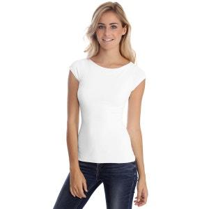 T-shirt col bateau manches courtes capes en modal DORIS 02 RENDEZ-VOUS PARIS