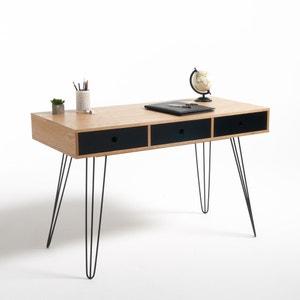 Biface 3-Drawer Desk La Redoute Interieurs