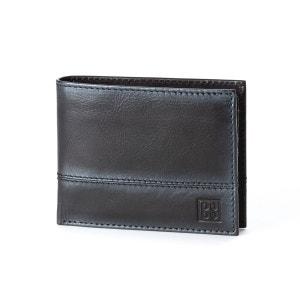 Portefeuille pour homme en cuir véritable avec porte-monnaie et fentes pour cartes de crédit et carte d'identité NUVOLA PELLE