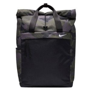 Camo Print Roll Top Backpack