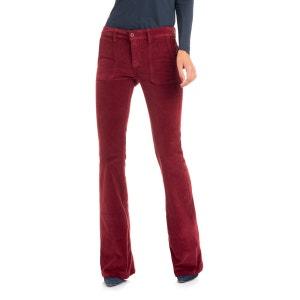 Pantalons Jane de couleur jambe évasée SALSA