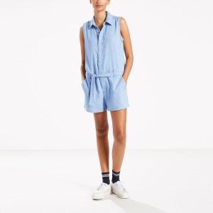 Combi-short denim, col chemise, sans manches LEVI'S