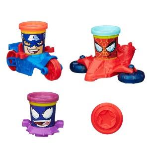 Pâte à modeler PlayDoh : Véhicules Marvel : Captain America, Spiderman & Venom HASBRO