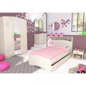 Chambre enfant 90x190 imitation chêne ivoire CB4004 - Terre de Nuit TERRE DE NUIT