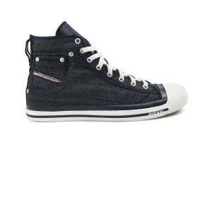 Sneakers montantes denim bleu Exposure pour homme DIESEL