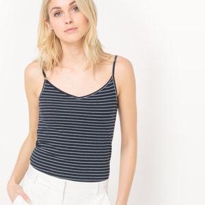 Camiseta sin mangas con cuello de pico a rayas R édition