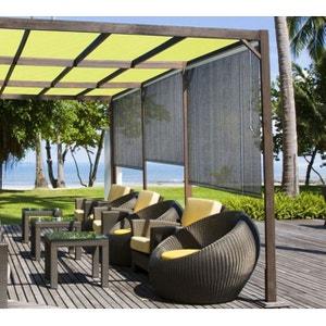 Store d'ombrage 120 x H 180 cm Brun Havane - 165g/m² JARDIDECO