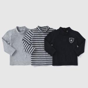 T-shirt col roulé (lot de 3) 1 mois-3 ans R Edition