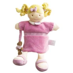 Marionnette peluche poupée rose DOUDOU ET COMPAGNIE