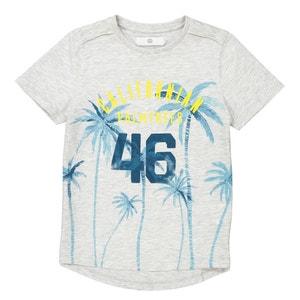 """Camiseta larga con motivo de """"palmeras"""" 3-12 años La Redoute Collections"""