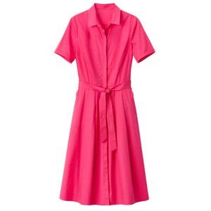Платье-рубашка расклешенное с поясом La Redoute Collections
