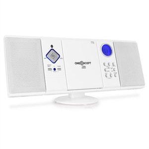 V-12-BT Chaîne bluetooth FM USB SD AUX -blanc ONECONCEPT