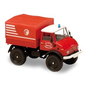 Modèle réduit en métal : Pompiers : Camion Mercedes Unimog 406 VSM SOLIDO
