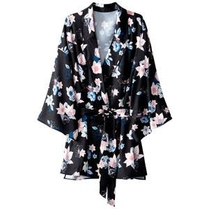 Kimono-Bluse mit Reverskragen atelier R