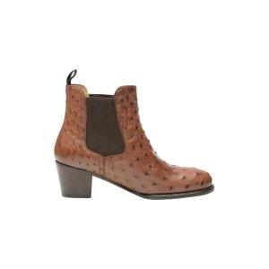 Chelsea boots en autruche marron SHOEPASSION
