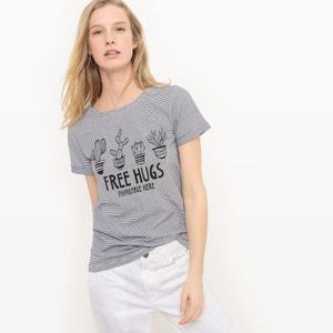 Free Hugs Slogan Cactus Print T-Shirt R édition