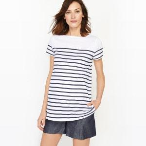 T-shirt de grossesse, marinière, jersey coton bio R essentiel