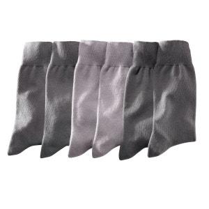 Pack of 6 Pairs of Plain Cotton Jersey Socks LES PETITS PRIX