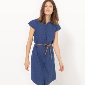 Short Dress with Short Sleeves and Crew Neck VERO MODA