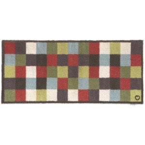 Tapis en fibres naturelles à carreaux 65x85 cm JARDINDECO