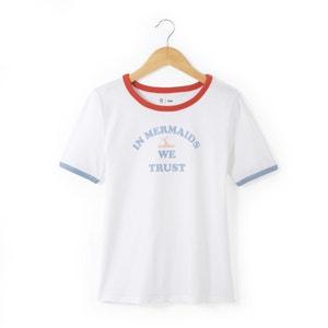 Bedrukt T-shirt met ronde hals R pop