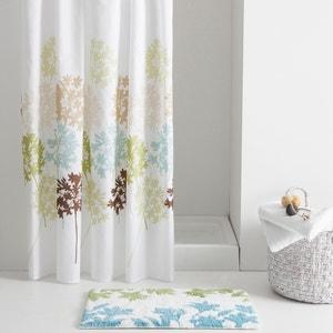 Garden Leaf-Print Shower Curtain La Redoute Interieurs