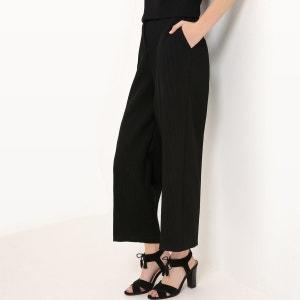 Pantalon large, jacquard uni MADEMOISELLE R