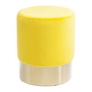 Tabouret Cherry jaune et laiton Kare Design KARE DESIGN