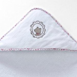 Cape de bain + gant bébé éponge 400 g/m² fille et garçon, Lili R baby