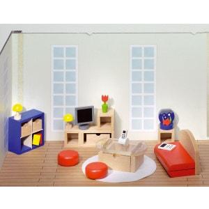 Maison de poupées : Mobilier grande salle de séjour GOKI