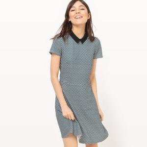 Żakardowa sukienka do kolan z graficznym wzorem MADEMOISELLE R
