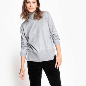Sweter z wywijanym kołnierzem i pęknięciami po bokach La Redoute Collections