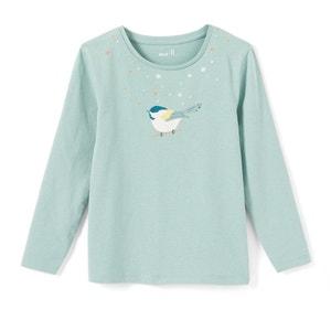 T-shirt z długim rękawem, z motywem ptaszka 3-12 lat La Redoute Collections