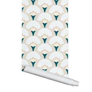 Papier Peint Palm Bleu Beige PAPERMINT