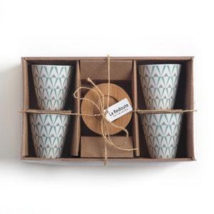 Tasses à café en porcelaine, lot de 4 La Redoute Interieurs