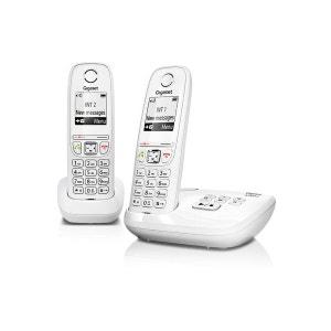 Téléphone répondeur sans fil duo GIGASET AS405A Blanc GIGASET